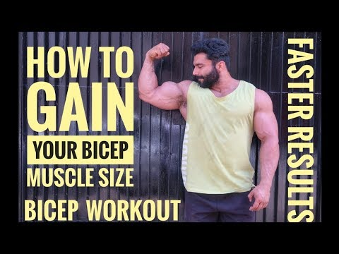 HOW TO GAIN YOUR BICEP MUSCLE SIZE | BICEP WORKOUT FOR MASS| ADD INCHES TO YOUR BICEPS