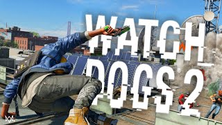 CRAZY PARKOUR, STUNTS AND FAILS IN WATCH DOGS 2