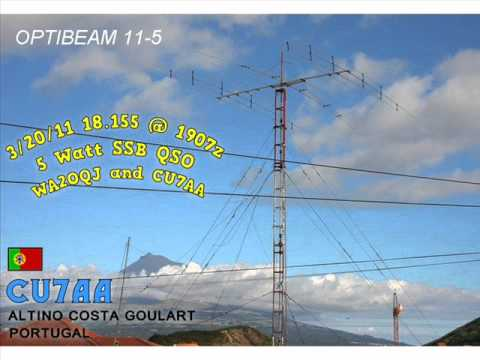 WA2OQJ's 17 meter 5 watt SSB QRP QSO with CU7AA