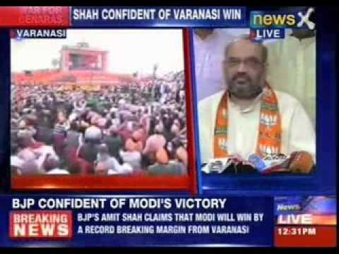 Amit Shah campaigns for Narendra Modi