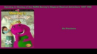 Barney's Magical Musical Adventure RARE 1997 VHS Opening & Closing
