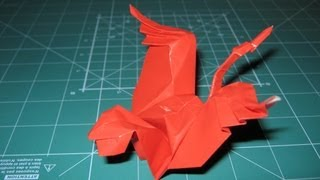 Origami Tutorial Crane By Eric Joisel (original Version)