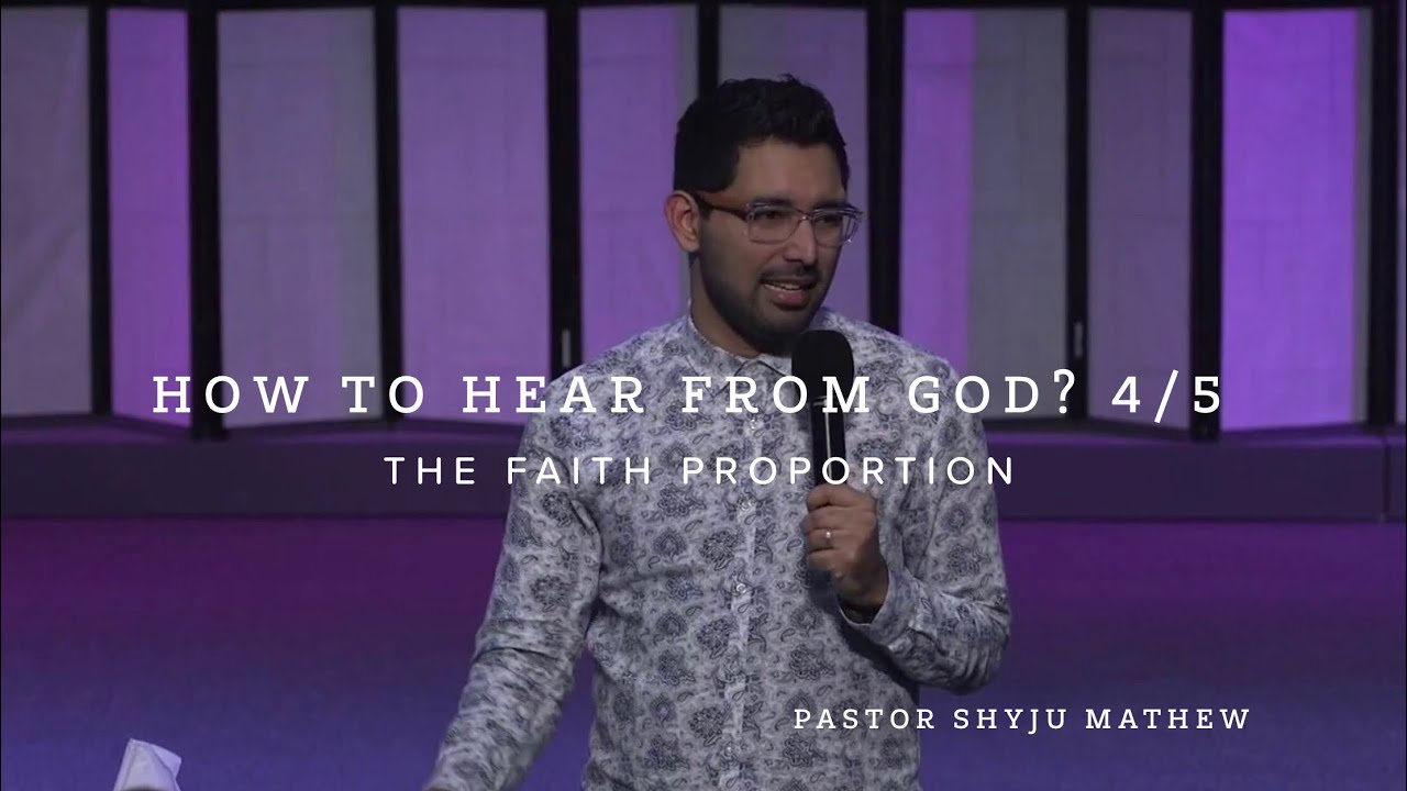 How to Hear From God. 4/5  The Portion of Your Faith
