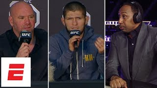 Stephen A., Khabib Nurmagomedov, Dana White react to UFC 229 post-fight brawl