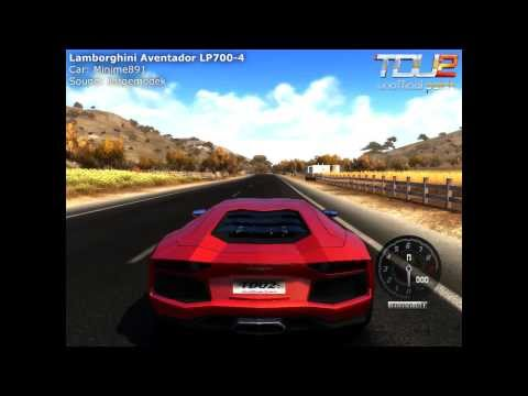 Tdu2 Lamborghini Aventador LP700-4 Car & Sound preview - Unofficial Patch V.04