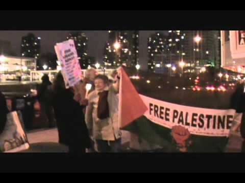 Vigil and Picket for Khader Adnan - Vancouver - Feb. 16, 2012