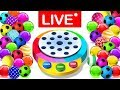 Learn Colors With Dancing Balls Finger Family Songs MEGA COLLECTION By KidsCamp   LIVE STREAMING