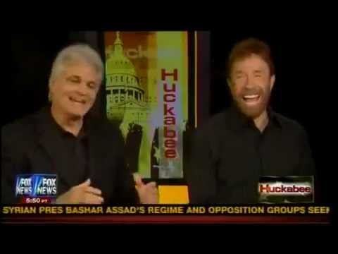 PART 2--Chuck Norris and Marshall Teague on Huckabee promoting Last Ounce of Courage (Sept. 2012)