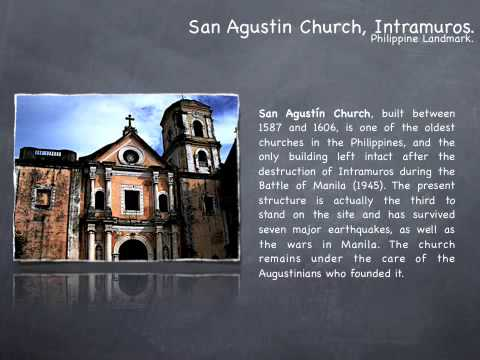 San Agustin Church, a historical Philippine landmark.
