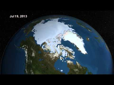 Melting Season: Summer 2013 Arctic Sea Ice Retreat | Video