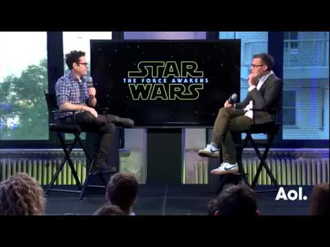 J J  ABRAMS Discusses STAR WARS The Force Awakens Aol BUILD Interview