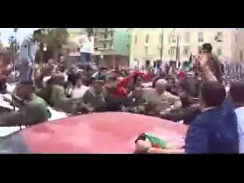 استقبال حفتر فى مدينة بنغازى 18.3.2001