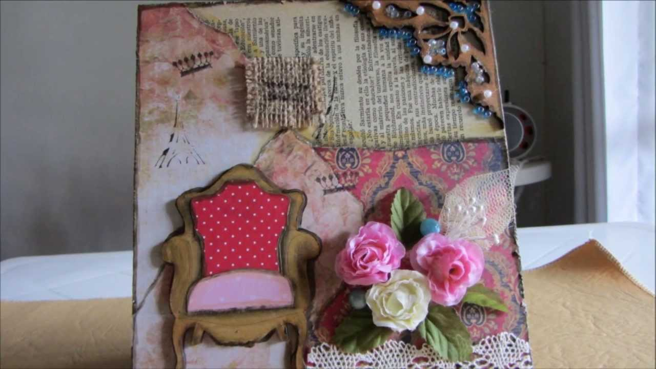 Cuadro con tecnica mixta vintage youtube for Antique arte y decoracion