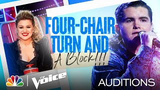 Kenzie Wheeler's Four-Chair Turn Performance: Don't Close Your Eyes - Voice Blind Auditions 2021