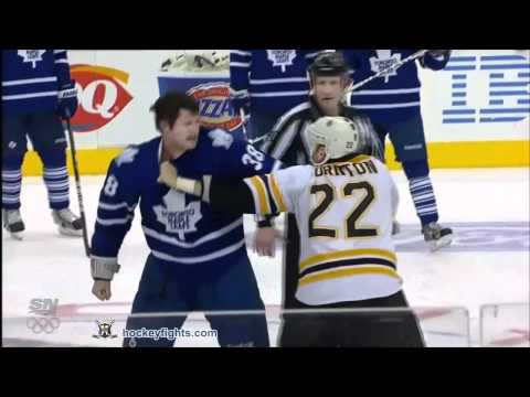 Shawn Thornton vs Jay Rosehill Mar 6, 2012