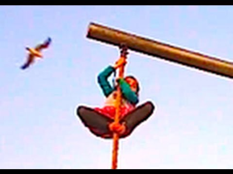 CRAZY LITTLE GIRL CLIMBS 25 ft. ROPE!