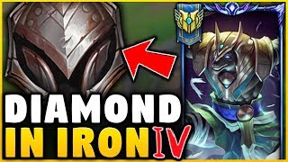 I TOOK MY NASUS INTO IRON FOR THE FIRST TIME! (DIAMOND NASUS VS IRON 4) - League of Legends