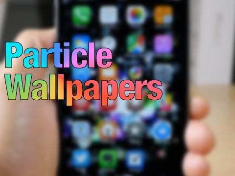 Cydia Tweak: Particle Wallpapers