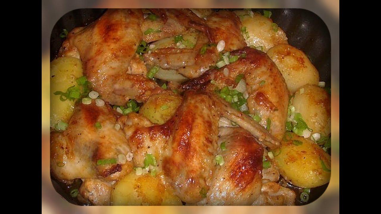 Куриные крылышки в рукаве для запекания с картошкой в духовке рецепт