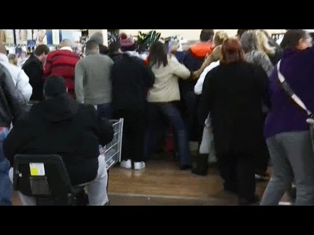 Shoppers on a mad dash for Black Friday bargains