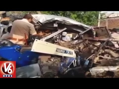 12 Lost Life And 6 Injured As Tractor Trolley Rams Into Jeep In Morena | Madhya Pradesh | V6 News