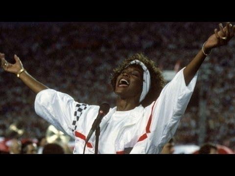 Whitney Houston National Anthem Super Bowl Performance Video 1991