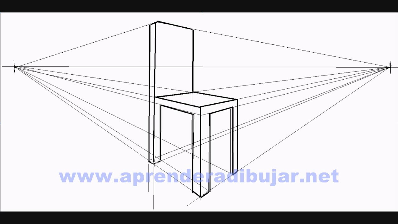 Dessin d 39 une chaise en perspective comment dessiner youtube - Dessiner une table de jardin ...