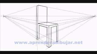 Comment dessiner for Chaise 3d dessin