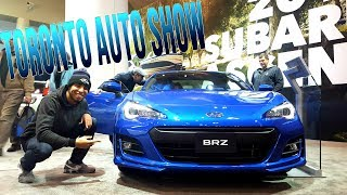Vlog at the Toronto Auto Show! I DONT FIT In My Favorite Car?!