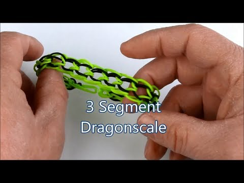 How to make the 3 Segment Dragonscale bracelet on the Rainbow Loom