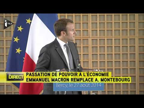 Passation Montebourg/Macron : le replay