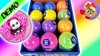 *MỚI* Tháo hộp 12 quả trứng chứa slime! Mở hộp đất sét slime trứng bất ngờ PALS tiếng Đức
