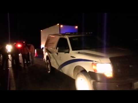 Dos personas murieron atropelladas en la autopista a Colima