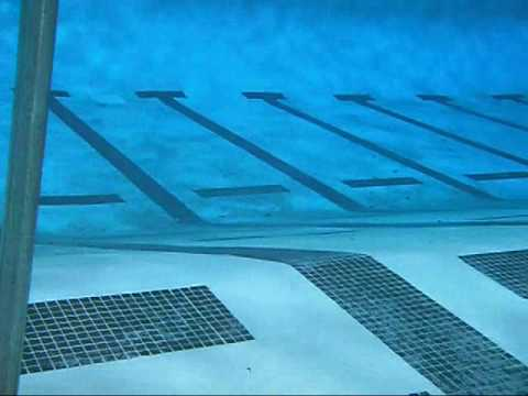 Underwater camera test in an outdoor 50 meter pool youtube for How deep is a olympic swimming pool