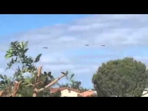Black Hawks cruise over the Gold Coast