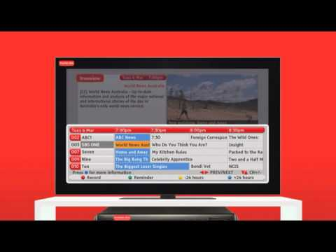 How to use the Freeview EPG