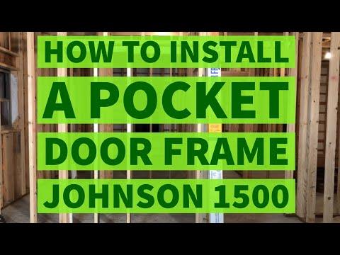 How To Install a Pocket Door Frame Johnson Hardware 1500 Kit