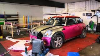 Mini Cooper Glitter Pink Wrap