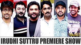 Celebrities at Irudhi Suttru Premiere Show