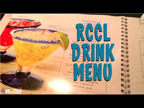 Royal Caribbean Drink Menu Amp Prices Youtube
