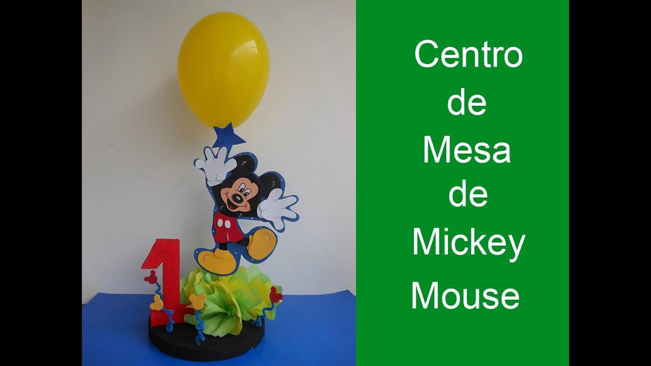 Mickey Mouse Decoracion Mesa ~ Centro de mesa de mickey mouse (centerpiece of mickey mouse)  YouTube