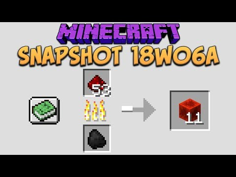 Minecraft 1.13 Snapshot 18w06a Custom Smelting, Furnace Recipe Book & New World Gen System
