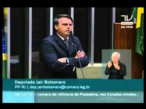 Dep. Jair Bolsonaro (PP) rebate a Dep. Maria do Ros�rio sobre discurso dos Direitos Humanos