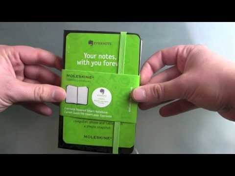 Moleskine Evernote Smart Notebook Unboxing and hands on