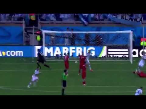Messi fantastic goal vs iran || best messi goal in word cup 2014