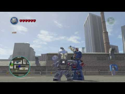LEGO Marvel Superheroes – War Machine Free Roam Gameplay
