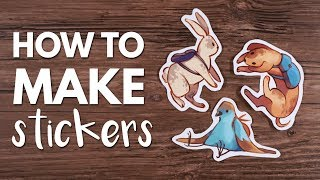 How to Make Stickers From Home // Tutorial