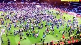 Crowd goes crazy at Aston villa vs west Brom quarter final fa cup all run on