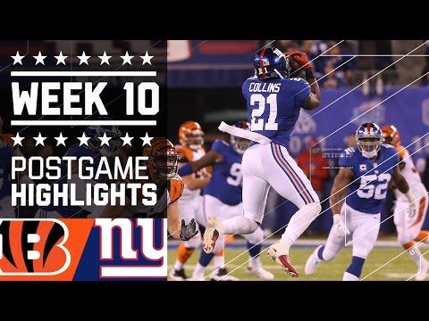 Giants Vs Bengals Nfl Week 10 Game Highlights