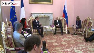 Vladimir Putin meets with Francois Holande in Armenia